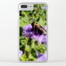 Lounging Bee Clear iPhone Case