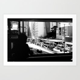 Hong Kong traffic Art Print