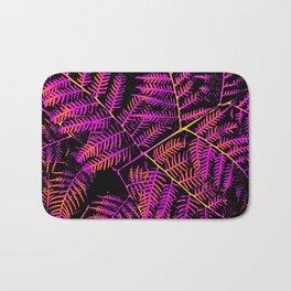 Purple, Orange & Yellow Bracken Bath Mat
