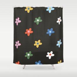 Flower Power -  Rainbow Shower Curtain