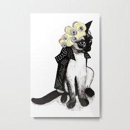 Cat Can  Metal Print