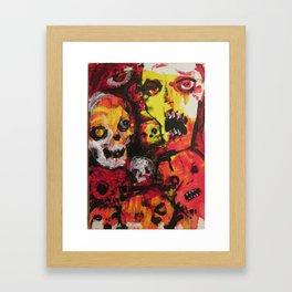 Zombie Art by Jack Larson 2018 Framed Art Print