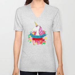 Unicorn   You are one of a kind Unisex V-Neck