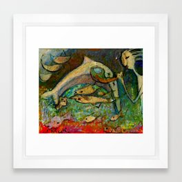 DELFIN Framed Art Print