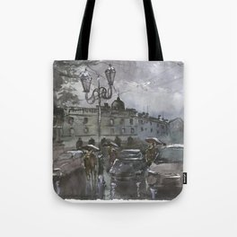 Lviv in the evening Tote Bag