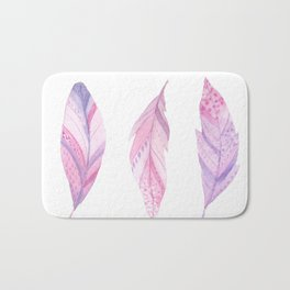 Purple Feathers Bath Mat