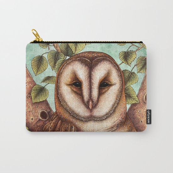 Spring Barn Owl Carry-All Pouch