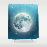 luna Shower Curtains featuring Luna by Good Sense