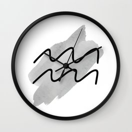 AQUARIUS January21 - February19, The Water Bearer, Zodiac Symbols Horoscope And Astrology Line Signs Wall Clock