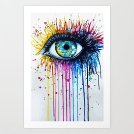 Color eyes Art Print