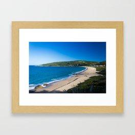 Beach and Sun Framed Art Print