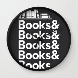 Books & Books & Books Wall Clock