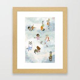 Tumbling Demigods Framed Art Print