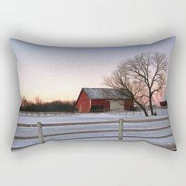Winter Ranch Rectangular Pillow