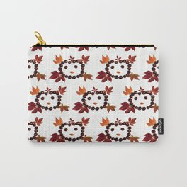 Happy Smiling Autumn Face #1 #pattern #decor #art #society6 Carry-All Pouch