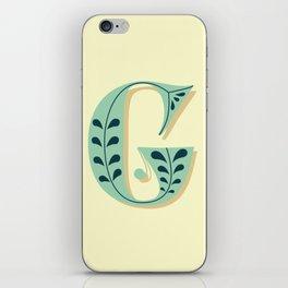 Alphabet Drop Caps Series- G iPhone Skin