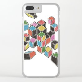 Exploded Rubik's Cube Clear iPhone Case