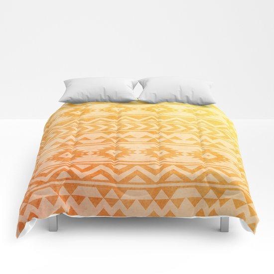 Aztec Pattern 08 Comforters