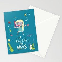 La Reine des mers Stationery Cards