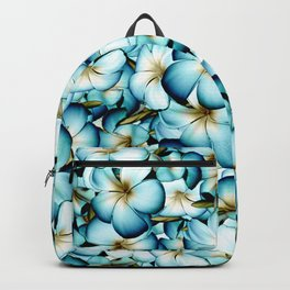 Plumeria Floral Pattern Backpack