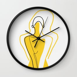 Sun Kissed Shy Girl Wall Clock