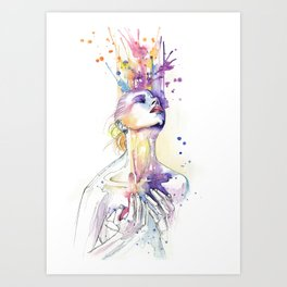 art never comes from happiness Art Print