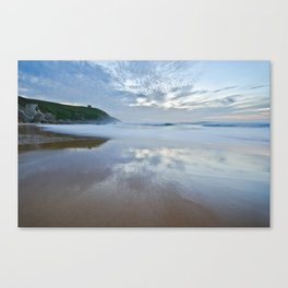 Reflections on the beach Canvas Print