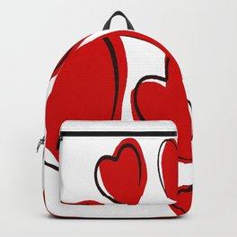Cute Hearts Random Pattern Backpack