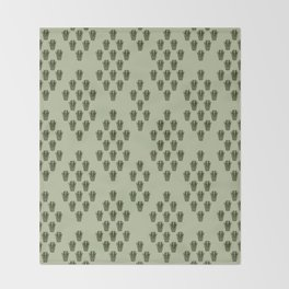 Emerald Thicket Throw Blanket