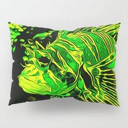 lionfish vector art green Pillow Sham
