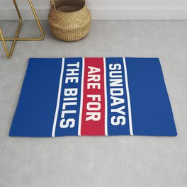 Sundays Are for the bills Rug