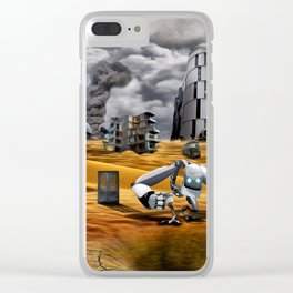 Catastrophic world Clear iPhone Case