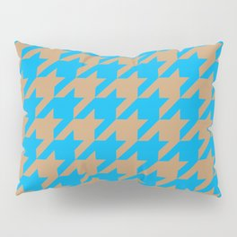 Houndstooth (Brown and Blue) Pillow Sham
