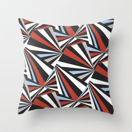 Razzle Dazzle red/blue/grey Throw Pillow