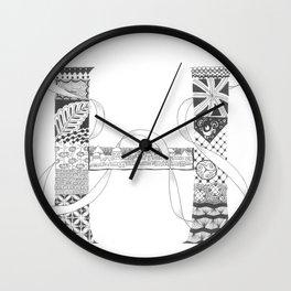 """Zenletter """"H"""" Wall Clock"""