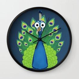 Patty the Peacock Wall Clock