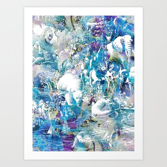 The barge waiting - Noah Art Print