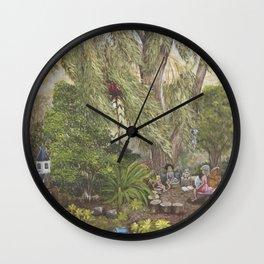 Faerie Garden Letters Wall Clock
