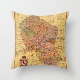 Map Of Cordoba 1900 Throw Pillow