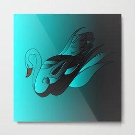 Swan art Metal Print