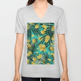 Summer Lemon Twist Jungle #1 #tropical #decor #art #society6 Unisex V-Neck