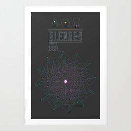 Blender experiment no.9 Art Print