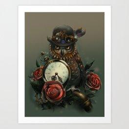 Sir Owl. Steampunk Art Print
