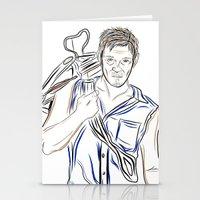 daryl dixon Stationery Cards featuring Daryl Dixon by Salina Ayala