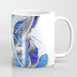 Blue White And Gray Art - Flowing 3 - Sharon Cummings Coffee Mug