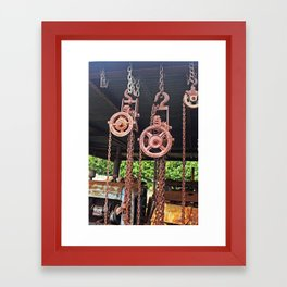 Chains & Tackle Framed Art Print