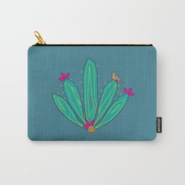 Succulents Blue Carry-All Pouch