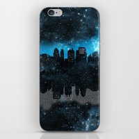 paper towns iPhone & iPod Skins featuring Cityscape Galaxy Paper Towns John Green Inspired  by denise
