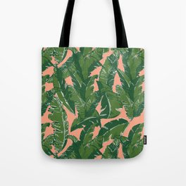 Leaves Bananique in Fresh Salmon Tote Bag