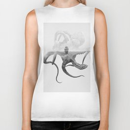 Octopus Vulgaris (Octopus & Ship) BW Biker Tank